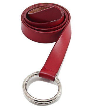 Genuine Leather Belt - Red