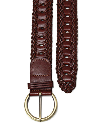 Genuine Leather Belt - Choc