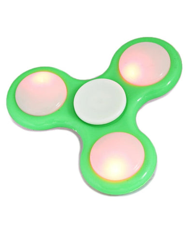 LED Plastic Fidget Spinner - Green