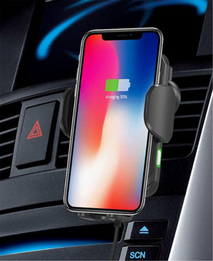 Wireless Car Charger and Stand - Black