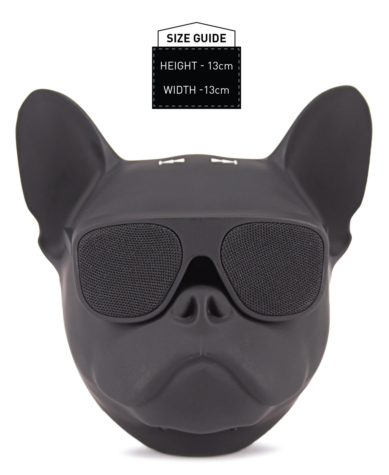 Dog Head Bluetooth Speaker - Black