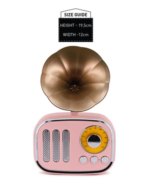 Wireless Vintage Speaker - Pink