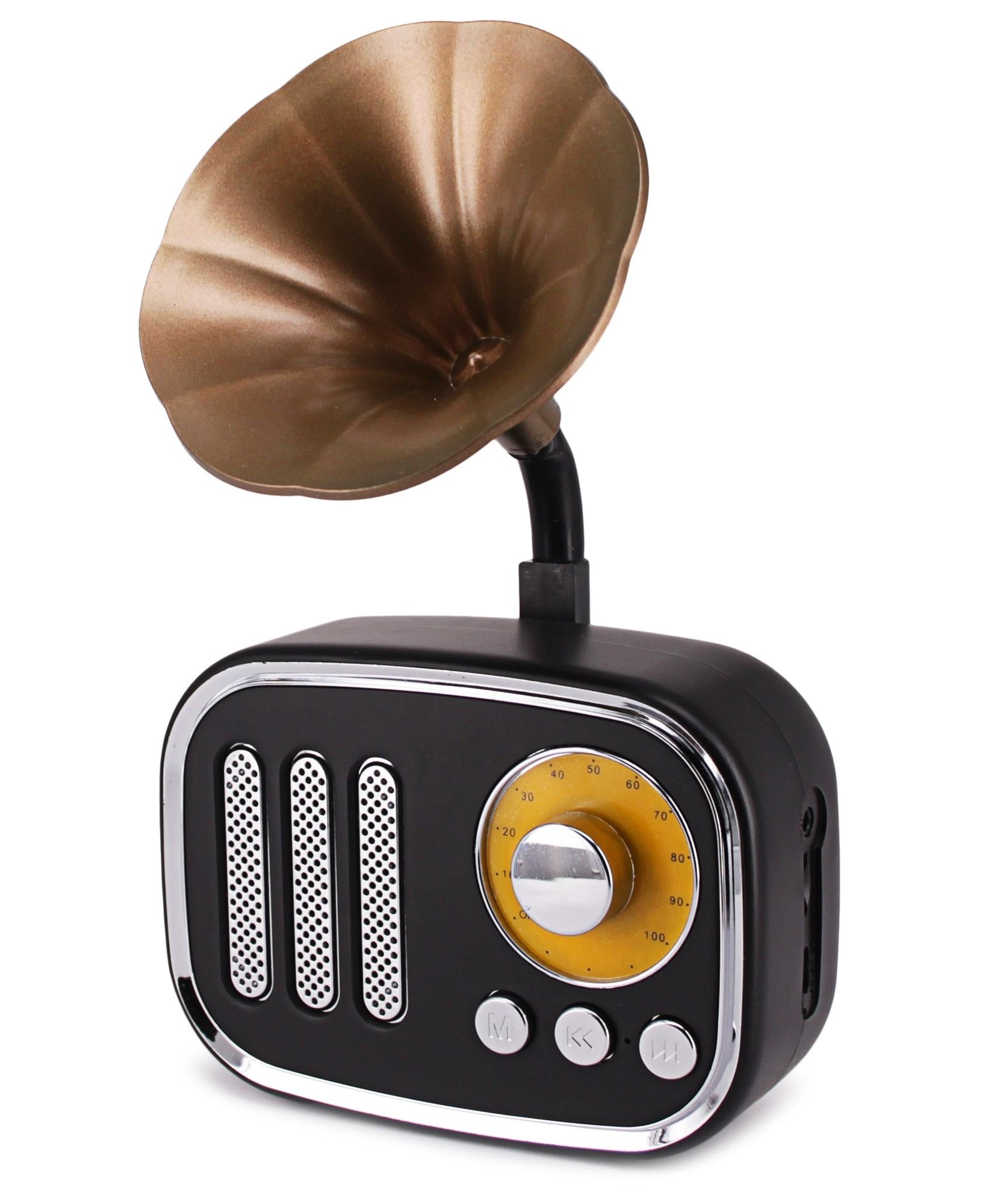 Wireless Vintage Speaker - Black