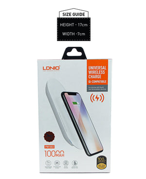 10000mAh Wireless Battery Pack - White