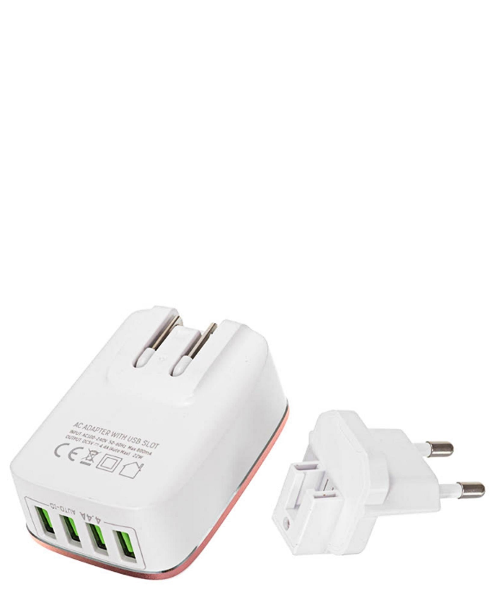 4 Port USB Power Adapter - White