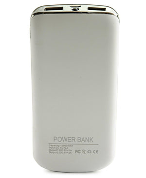 10000mAh Power Bank - Silver
