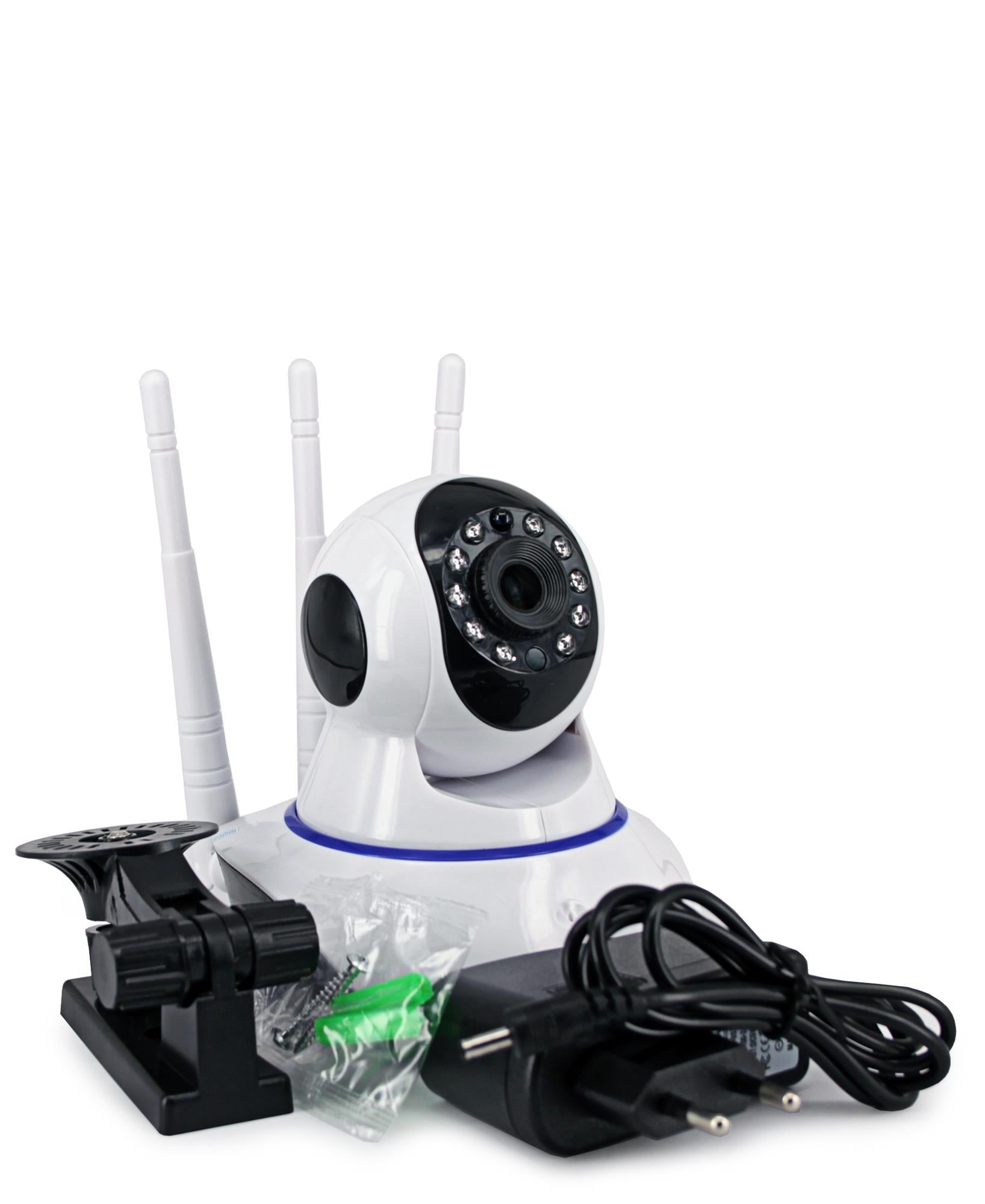 Triple Antenna 2MP Smart Wifi Camera - White