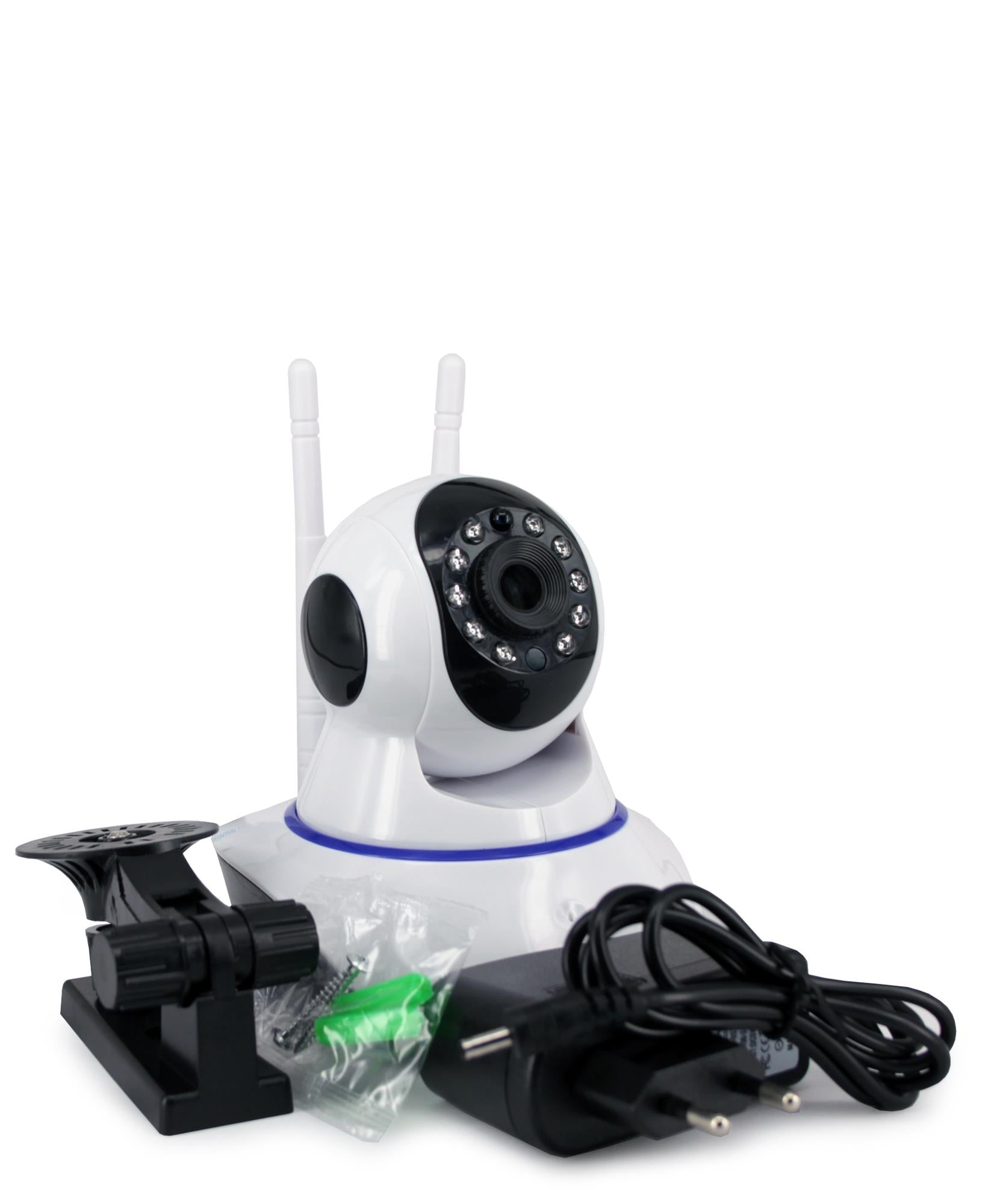 Dual Antenna 2MP Smart Wifi Camera - White
