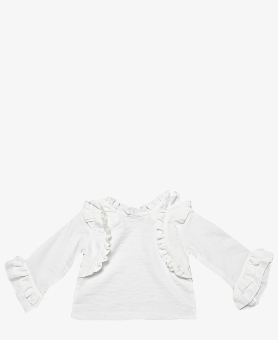 Girls Frill Top - White