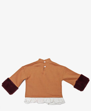 Girls Sweater Top - Mustard