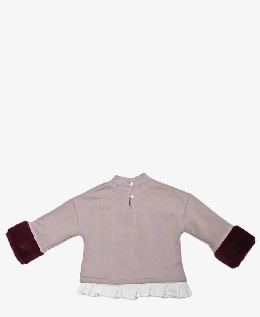 Girls Sweater Top - Mink