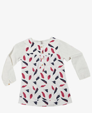 Girls Printed Top - White