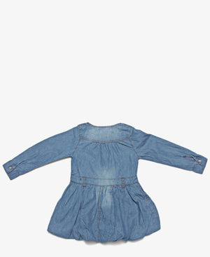 Girls Denim Dress - Blue