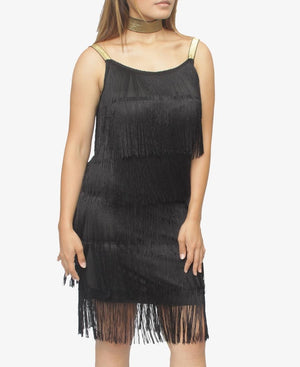 Tassel Dress - Black