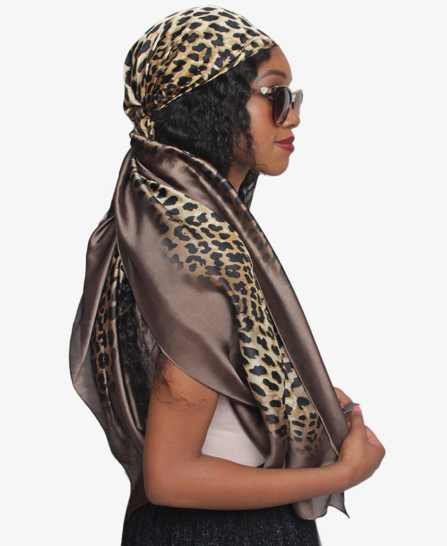 Silk Scarf - Brown