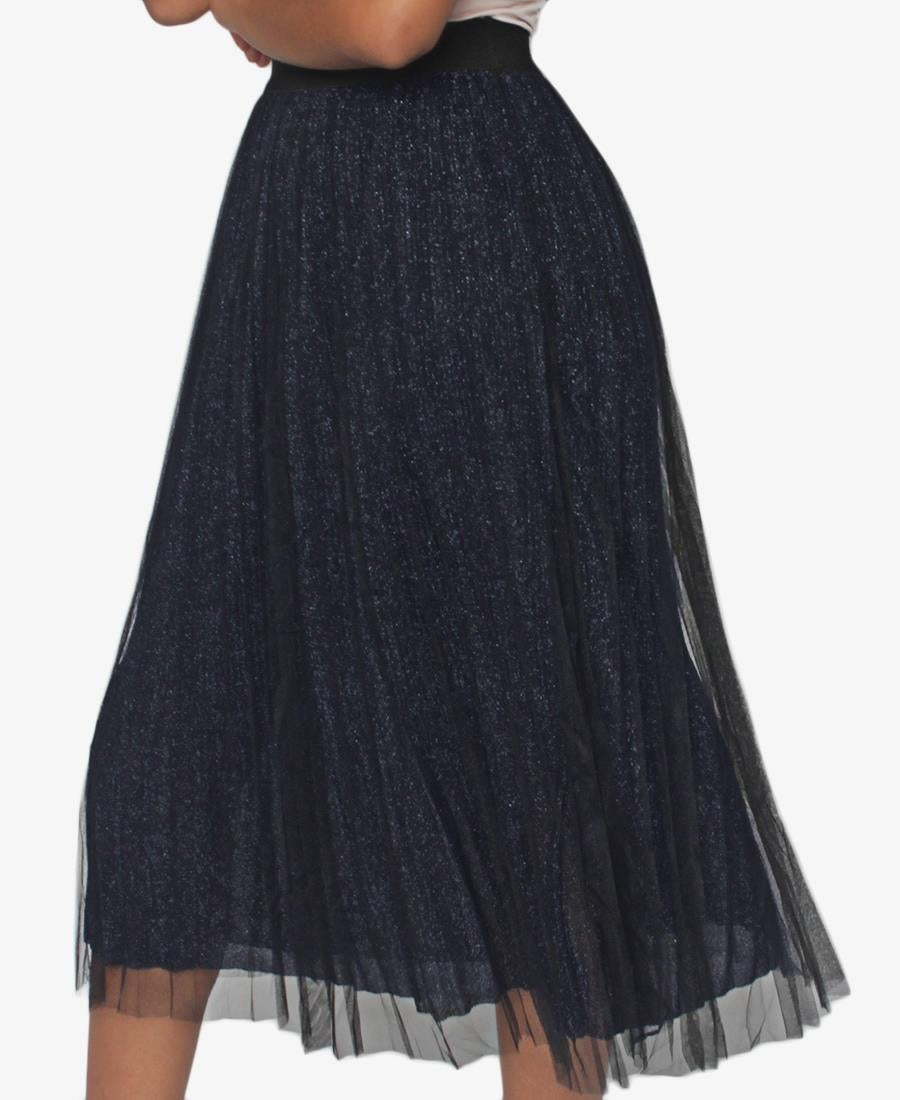 Pleated Skirt - Navy