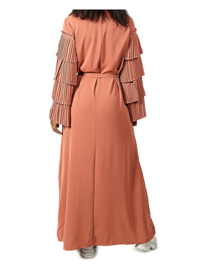 Long Sleeve Maxi Dress - Rust