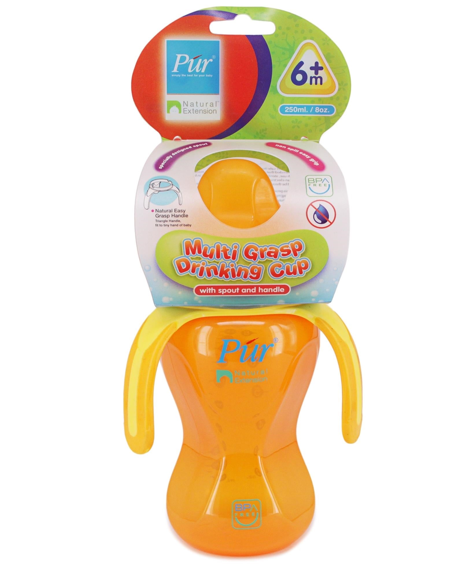 Grasp Cup With Spout - Orange