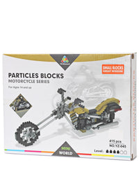 Particle Block Motorcycle - Yellow