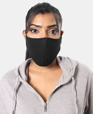 3 Ply Cloth Scuba Face Mask - Black - Black