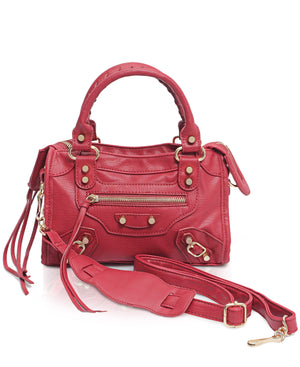 Mini Tote Bag - Red