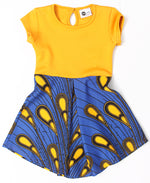 Girls Dress - Mustard