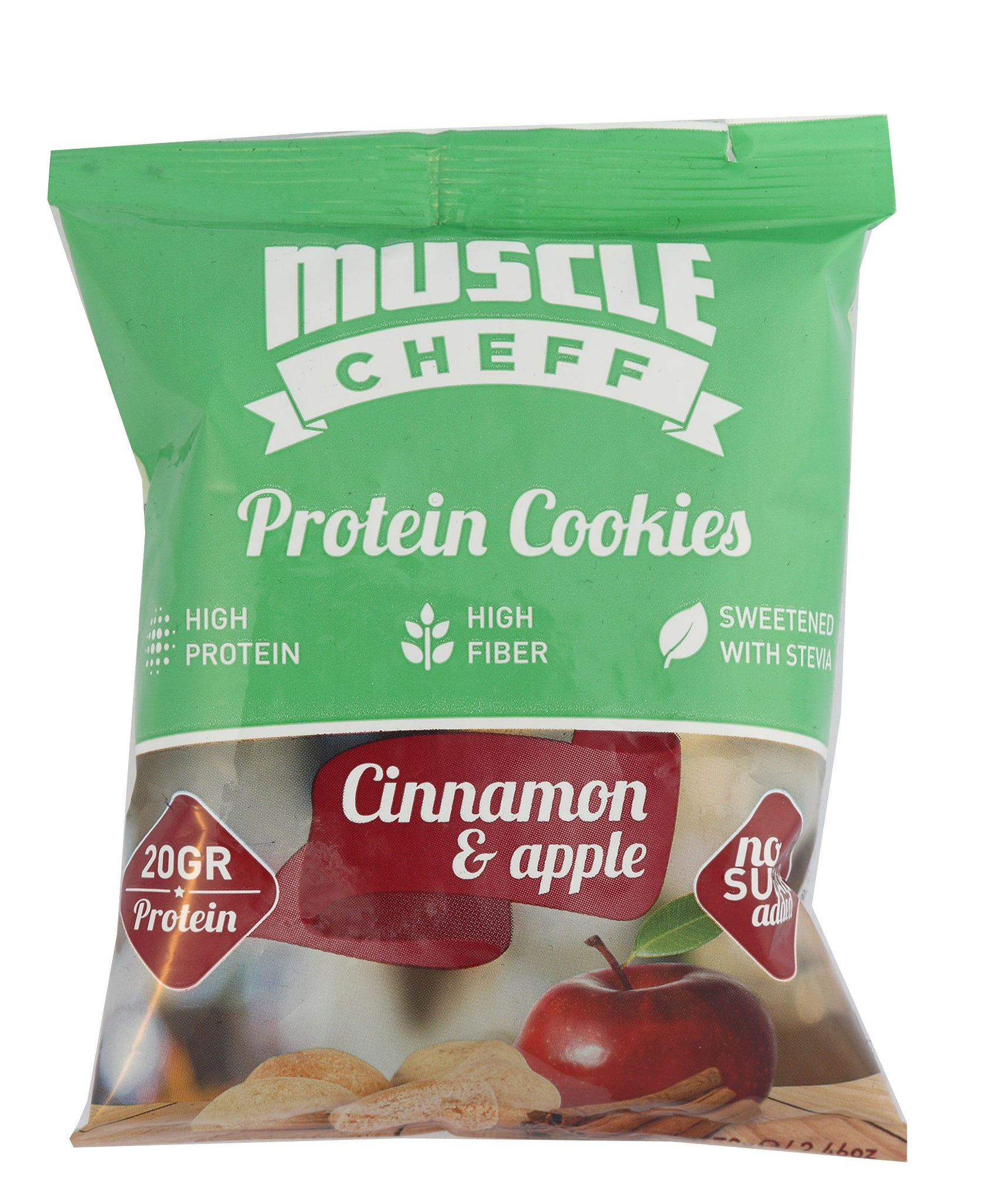 Cinnamon & Apple Protein Cookies - Green