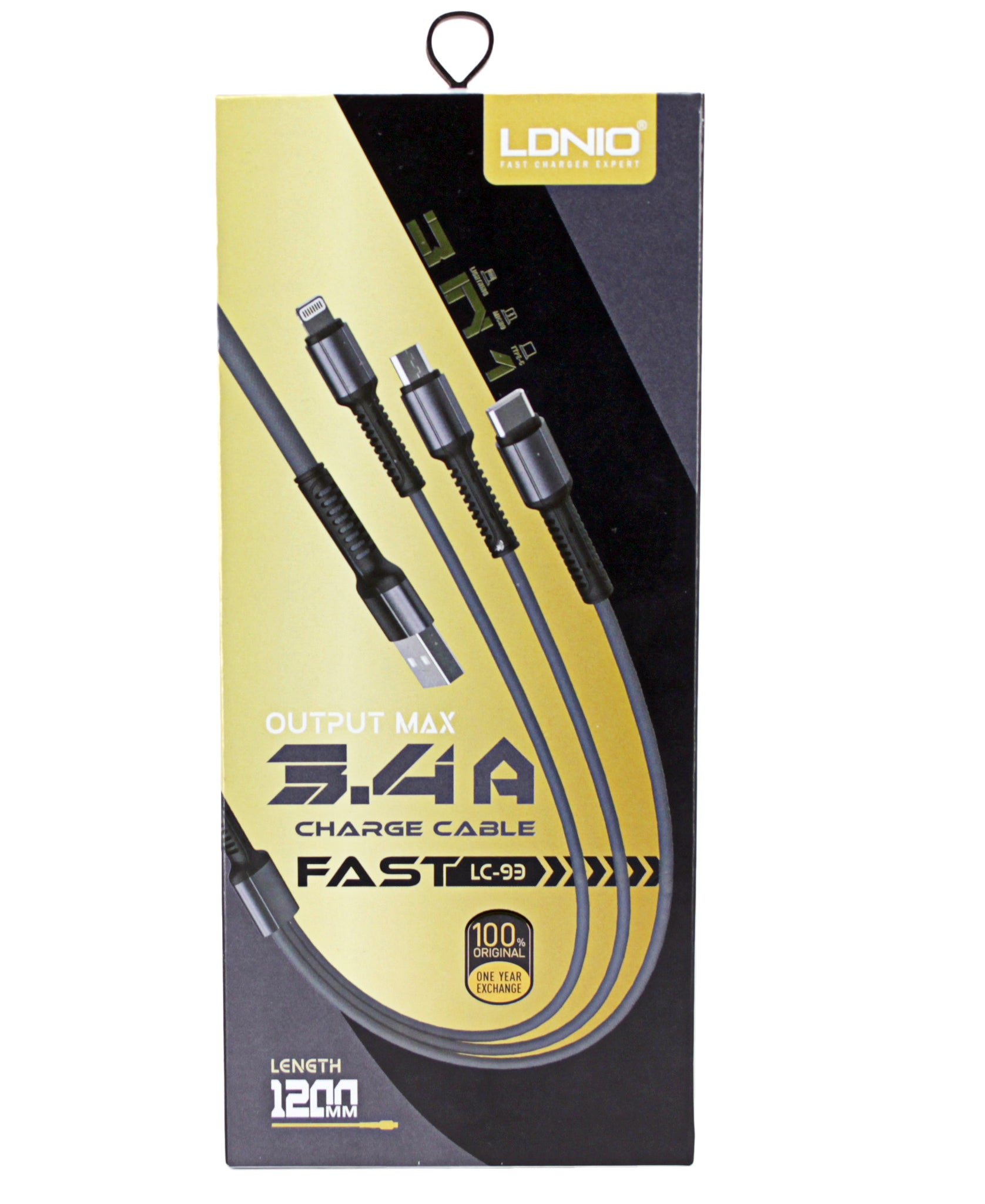 3 in 1 Fast Charge Cable - Grey