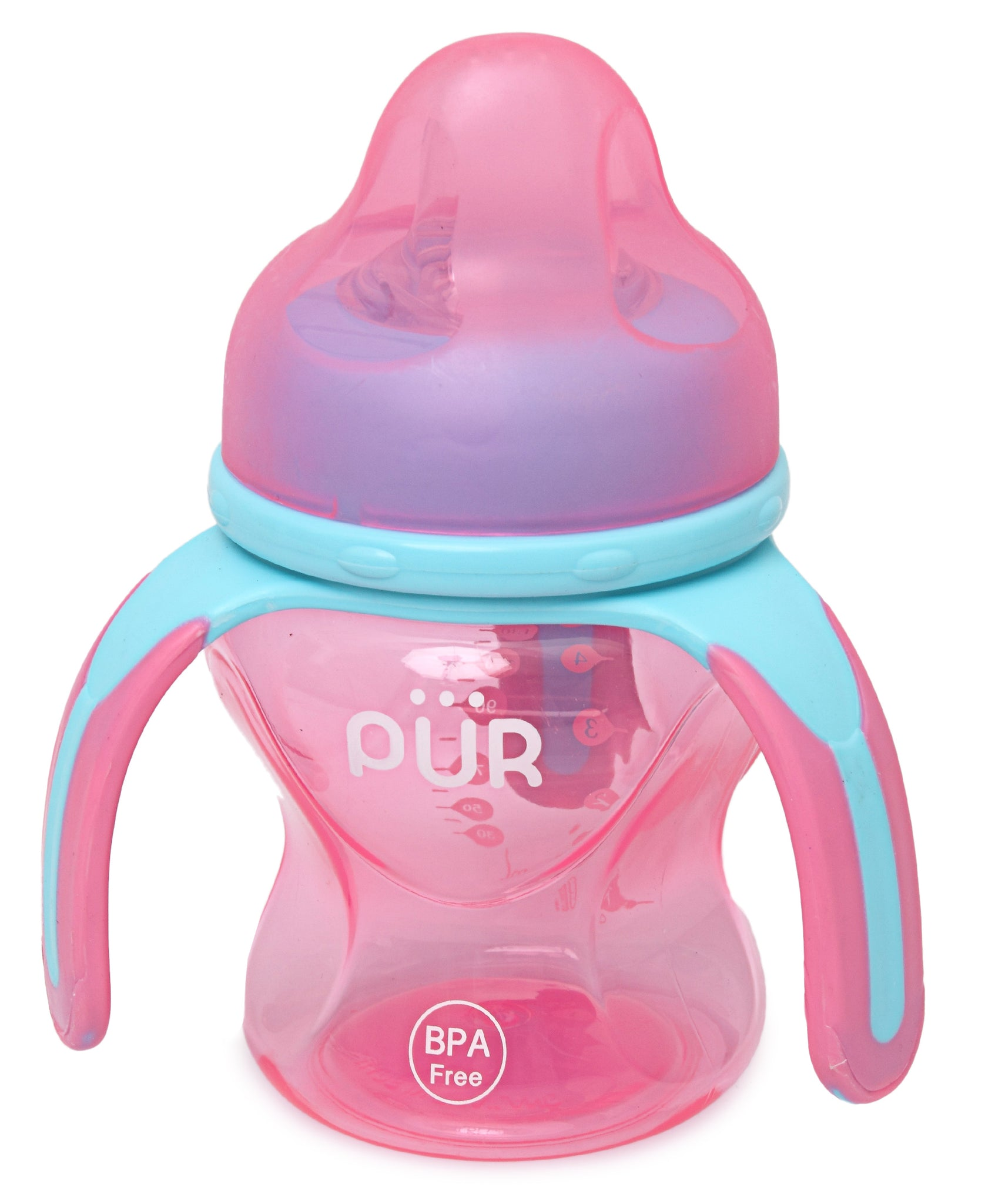 Multiple Grasp Cup With Spout - Pink