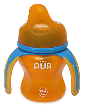 Multiple Grasp Cup With Spout - Orange