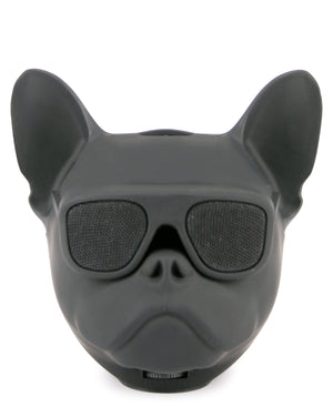 Mini Dog Head Bluetooth Speaker - Black
