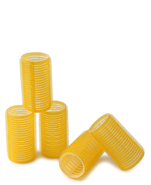 Medium Velcro Hair Rollers 5's - Yellow