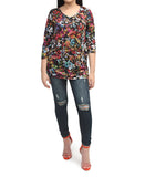 3/4 Sleeve Top - Multi