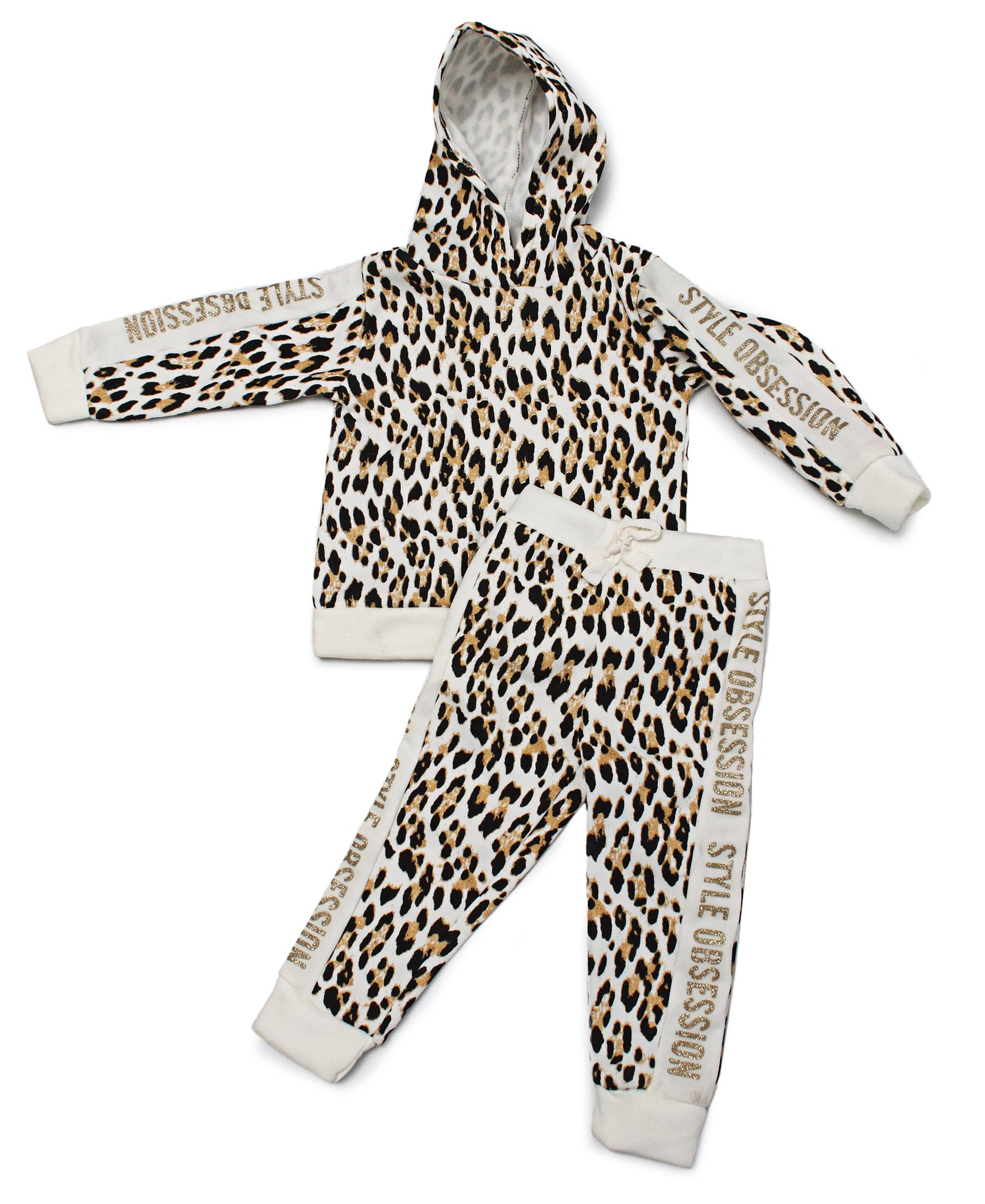 Girls 2 Piece Tracksuit - Brown