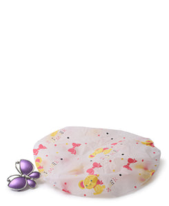Shower Cap With Hair Clip - Multi