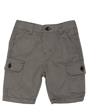 Boys Cargo Shorts - Grey
