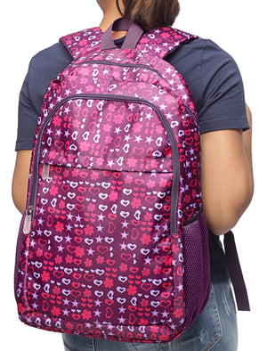 Printed Backpack - Purple