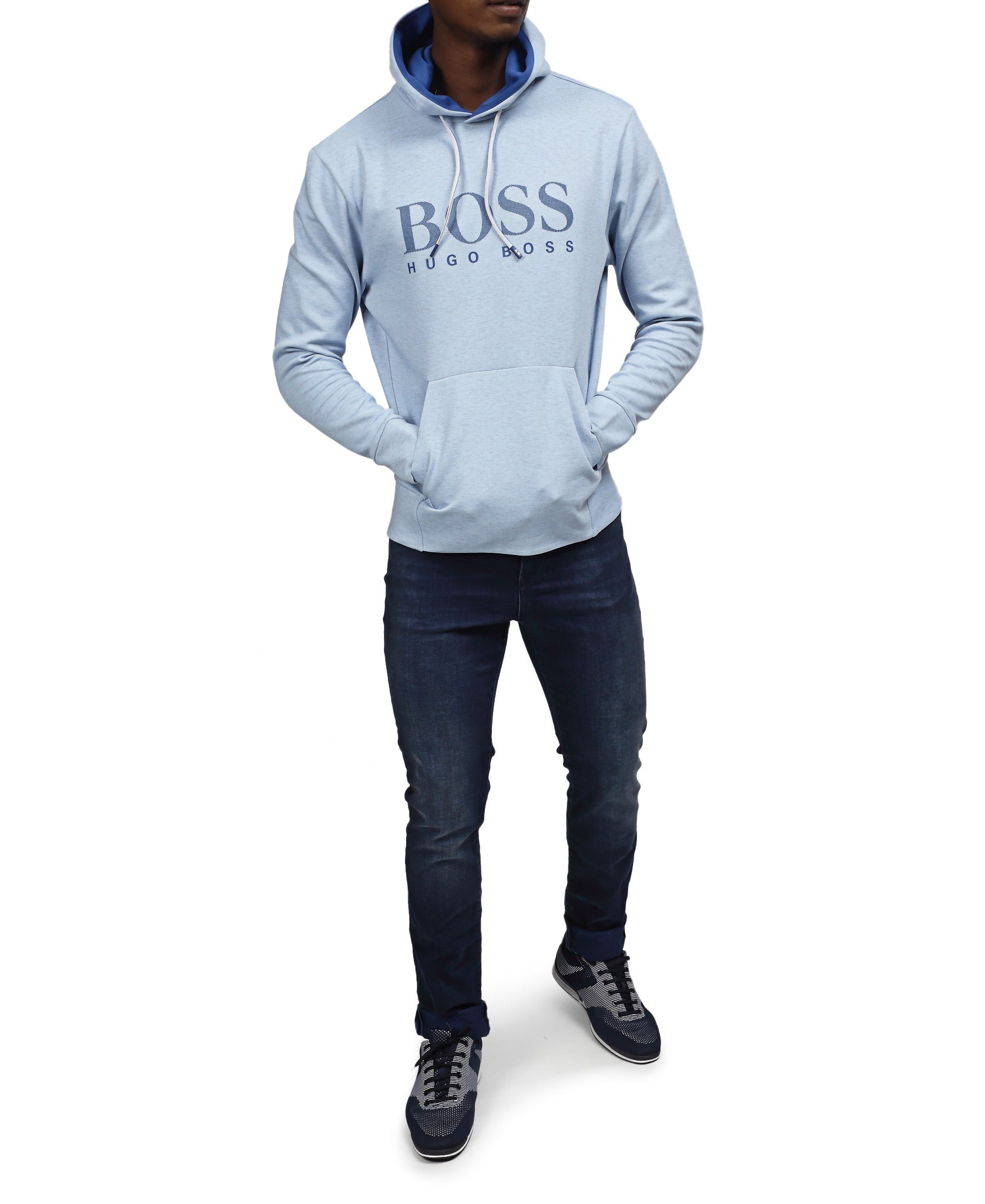 Comfort Fit Hugo Boss Sweatshirt - Blue