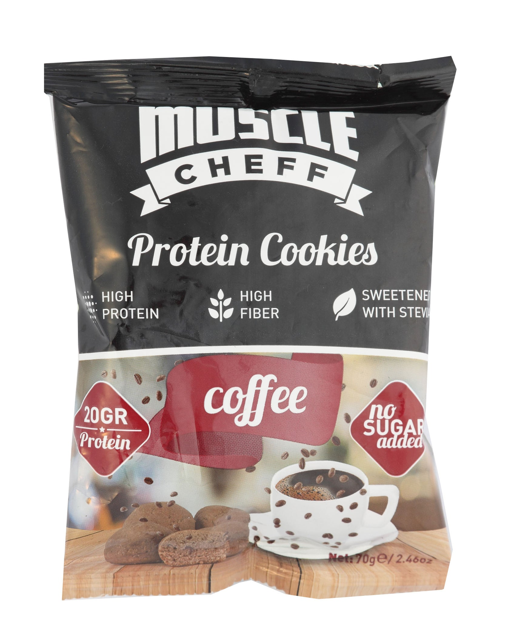 Coffee Protein Cookies - Black