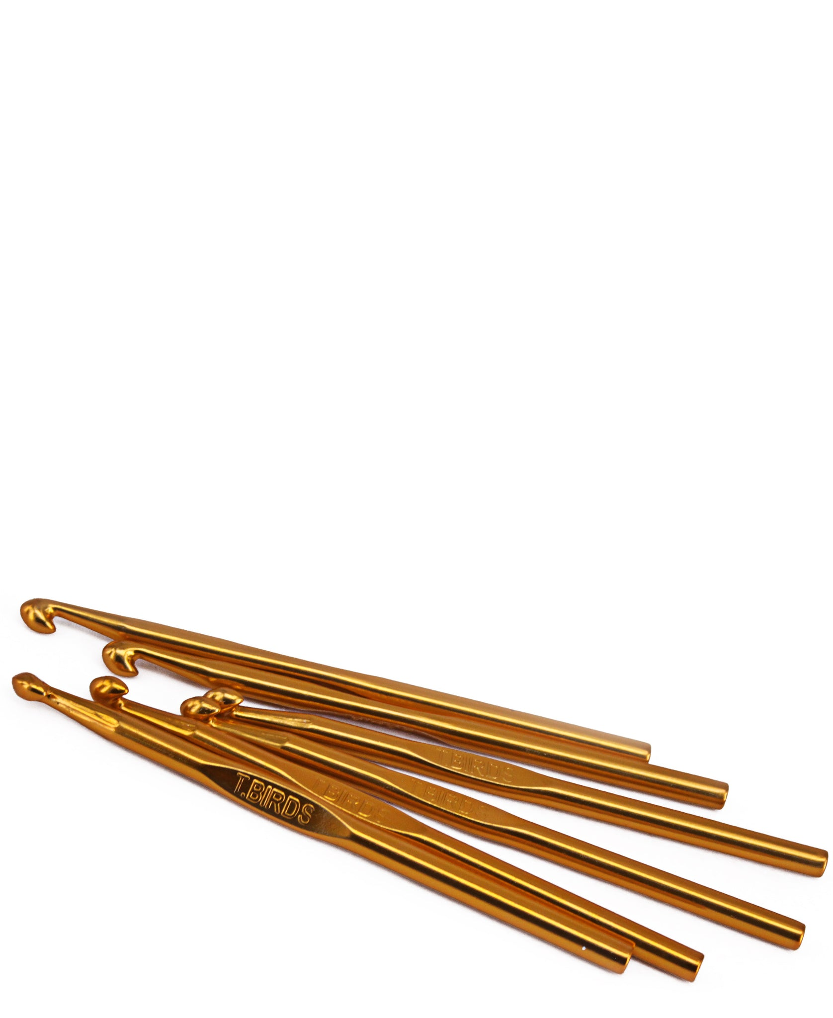 Single Aluminium Crochet Hook - Gold
