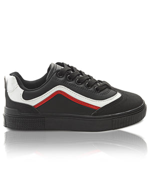 Kids Smooth Sneakers - Black