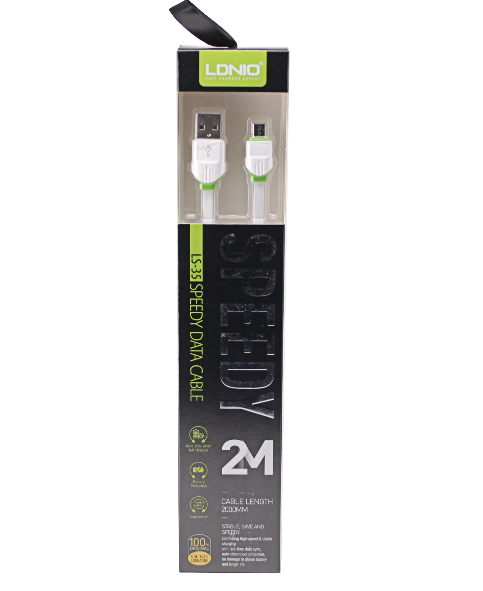 2m Micro USB Data Cable - White