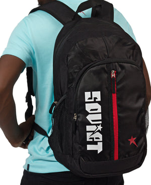 Red Star Backpack - Black