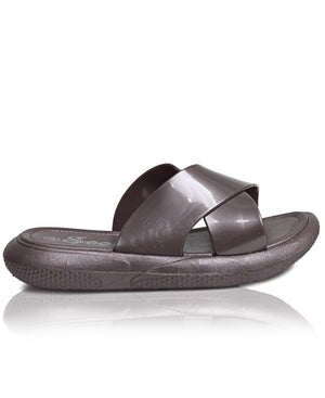 Crossover Sandals - Pewter