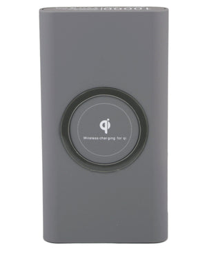 10000mAh Wireless Power Bank - Grey