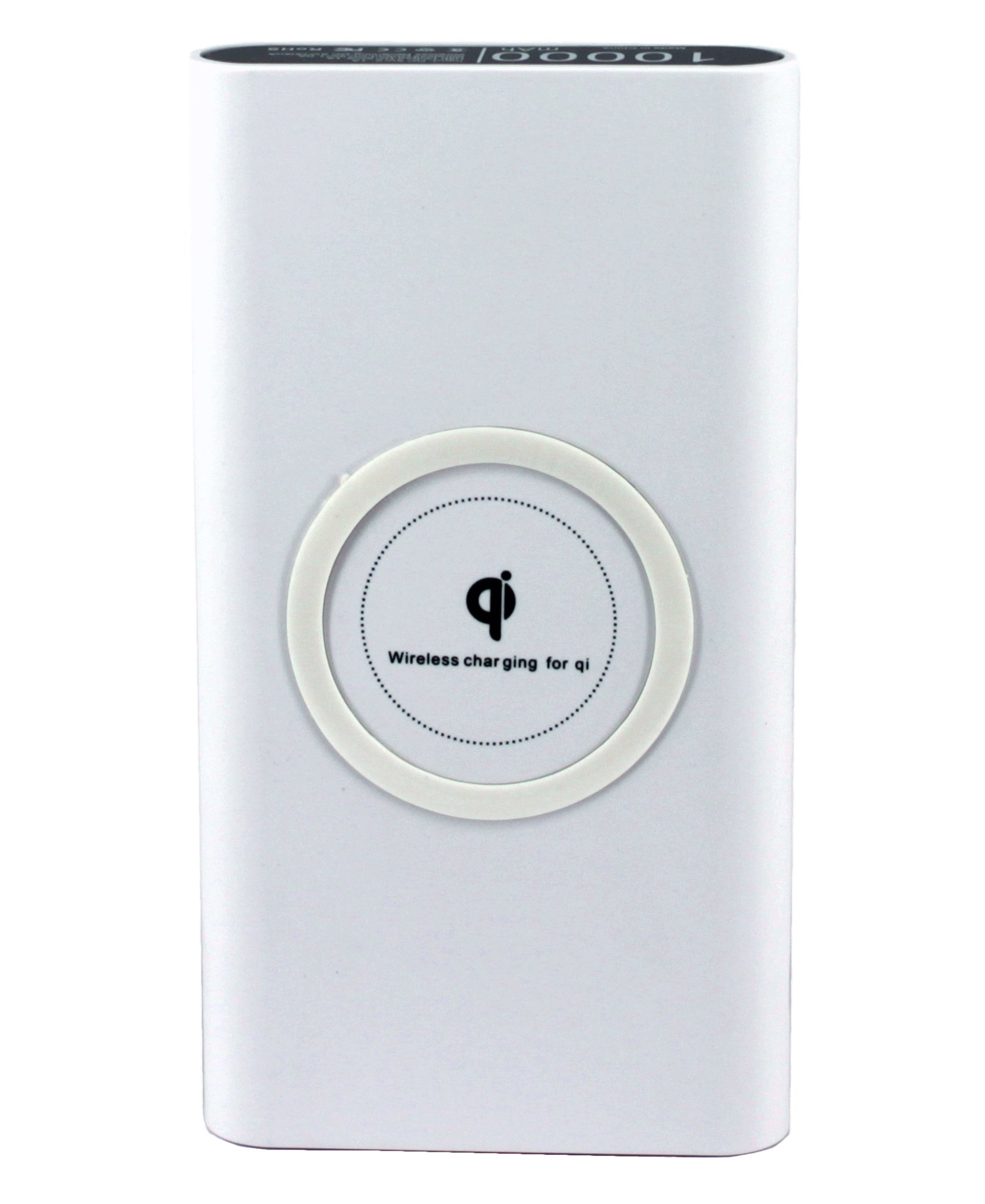 10000mAh Wireless Power Bank - White