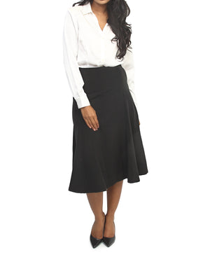 Flared Formal Skirt - Black