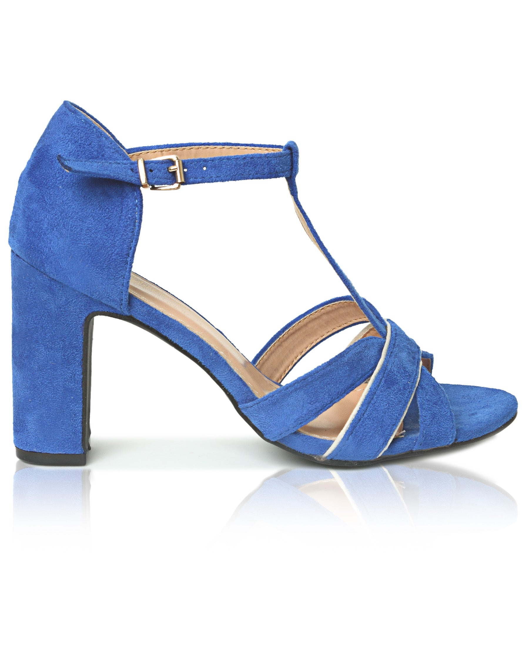 Block Heels - Royal Blue
