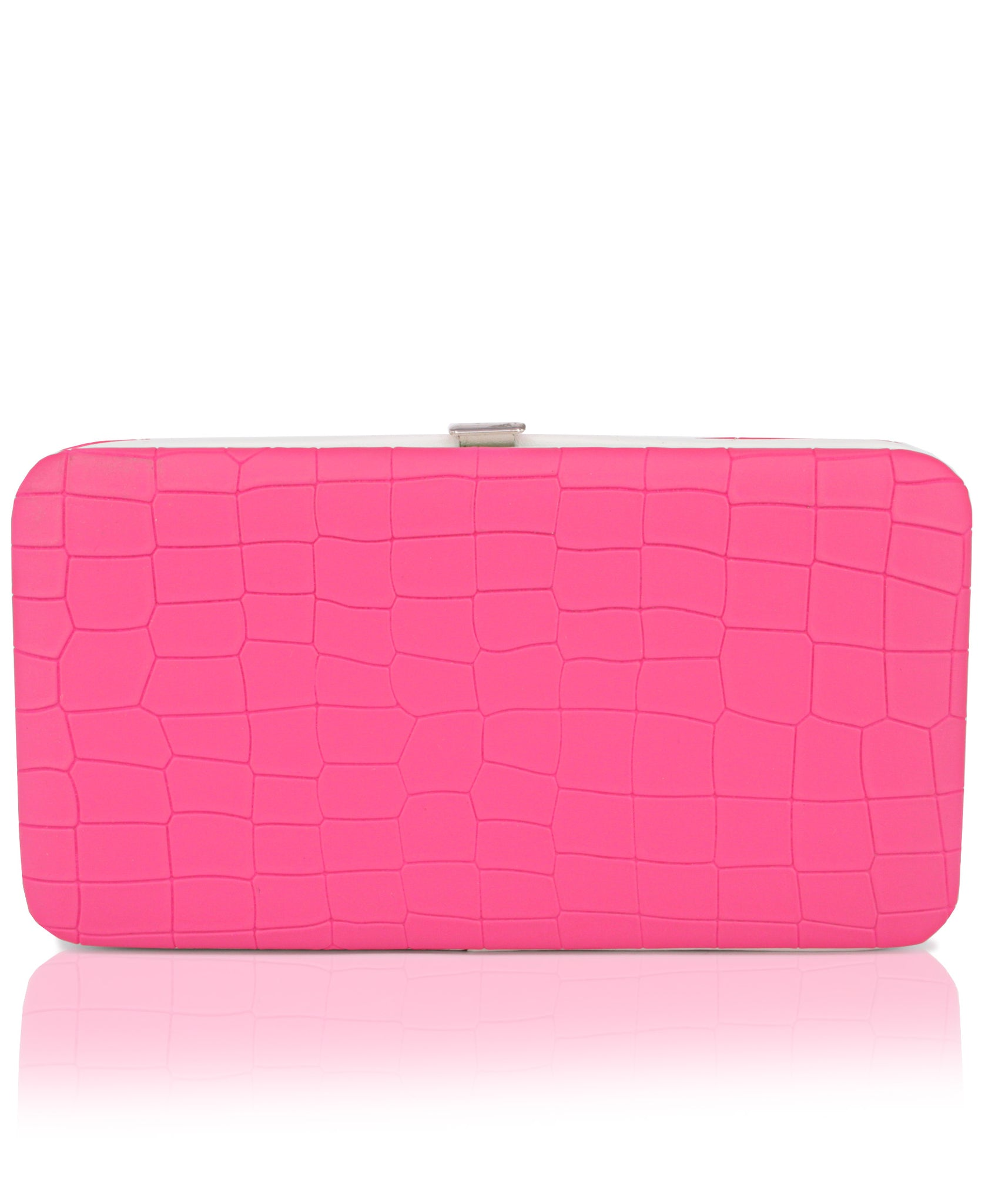 Embossed Wallet - Fuschia