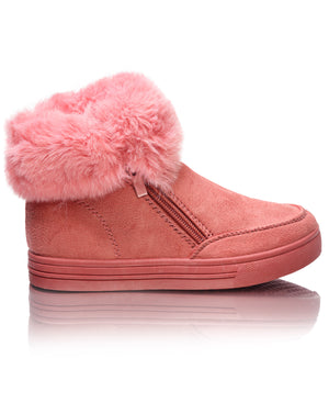 Girls Fluff Sneakers - Mink